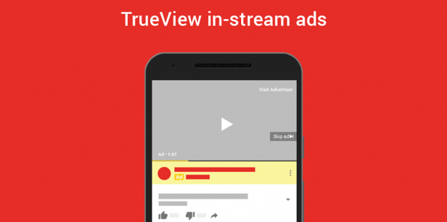 youtube trueview in stream ads